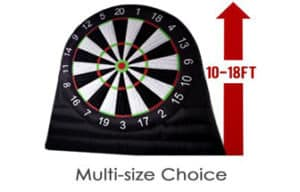 ANNATTO Outdoor Inflatable Soccer Darts Board with 6pcs Inflatable Ball for Sports Game