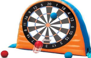 Banzai Land Bouncer All Star Inflatable soccer Dartboard Set