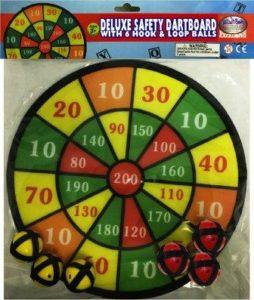 "Matty's Toy Stop Deluxe 12"" Velcro Dart Board"