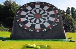 Self Outdoor Inflatable Soccer Darts Board with 6pcs Inflatable Ball for Sports Game
