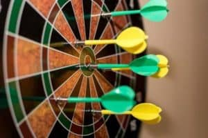 magnetic kids dartboard