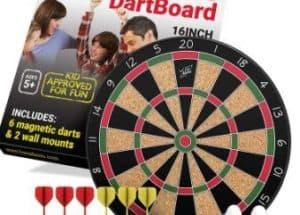 Fun Adams Magnetic Dartboard with Safe Precision Darts