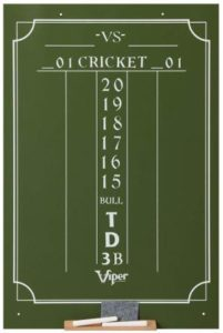 Viper Chalk Scoreboard Cricket and 01 Dart Games