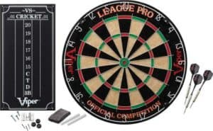 Viper League Pro-Regulation Bristle Steel Tip Dartboard