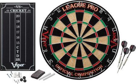Viper League Pro-Regulation Bristle Steel Tip Dartboard