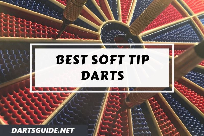 Soft tip darts in a dartboard