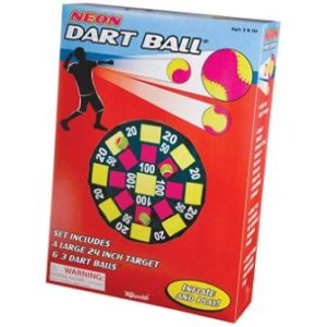 Toysmith Get Outside GO! Neon Dart Ball Set