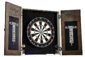 dartboard with cabinet