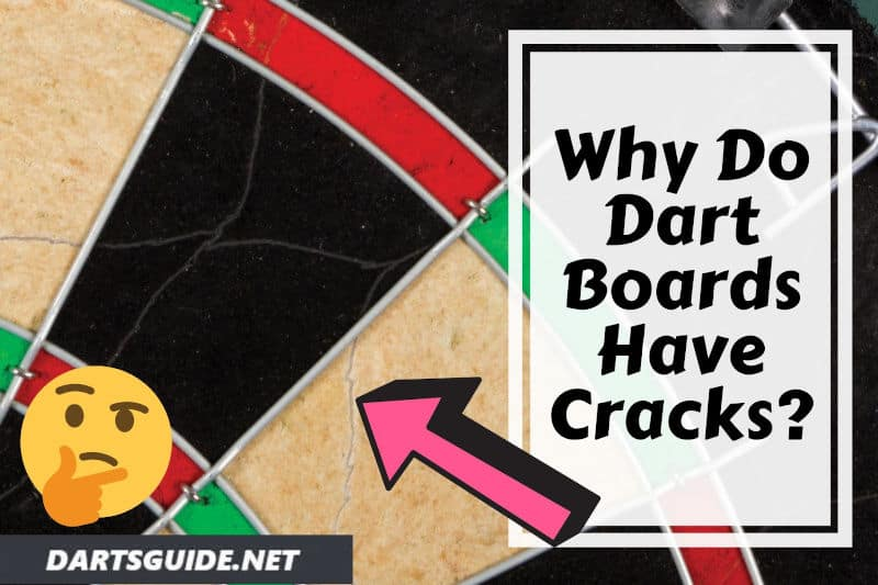 dart board with cracks