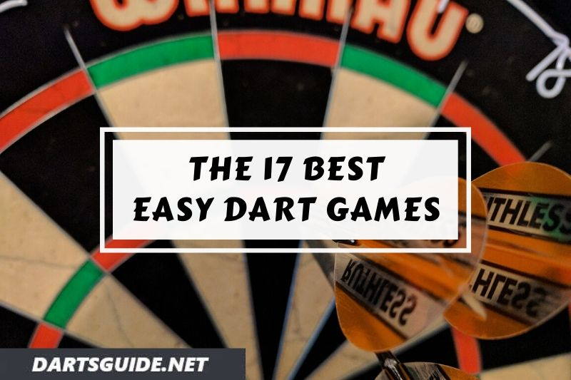A dartboard with a set of darts