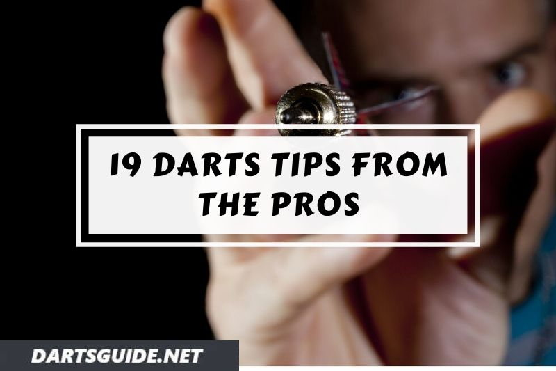 A darts player throwing a dart.