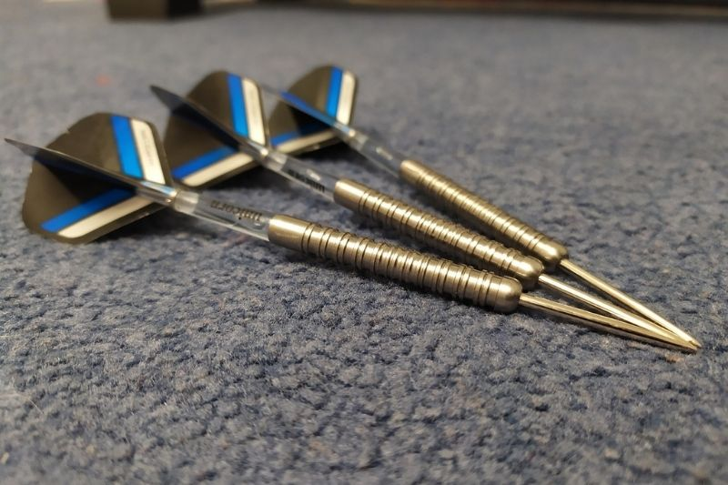 Sharpened steel tip darts