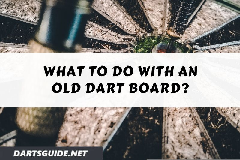 old bristle dartboard